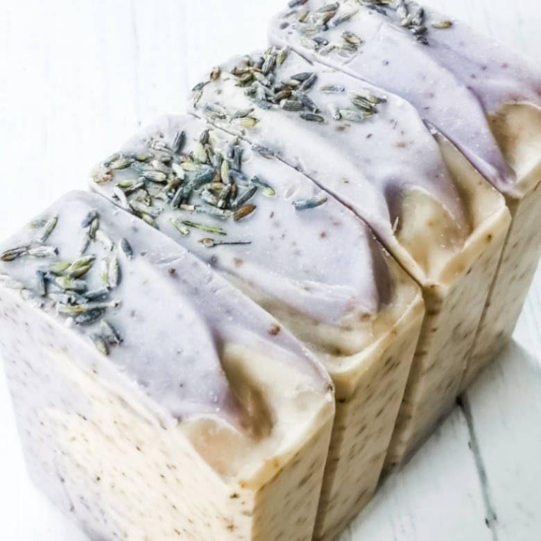 Lavendel-Kokosseife selber machen