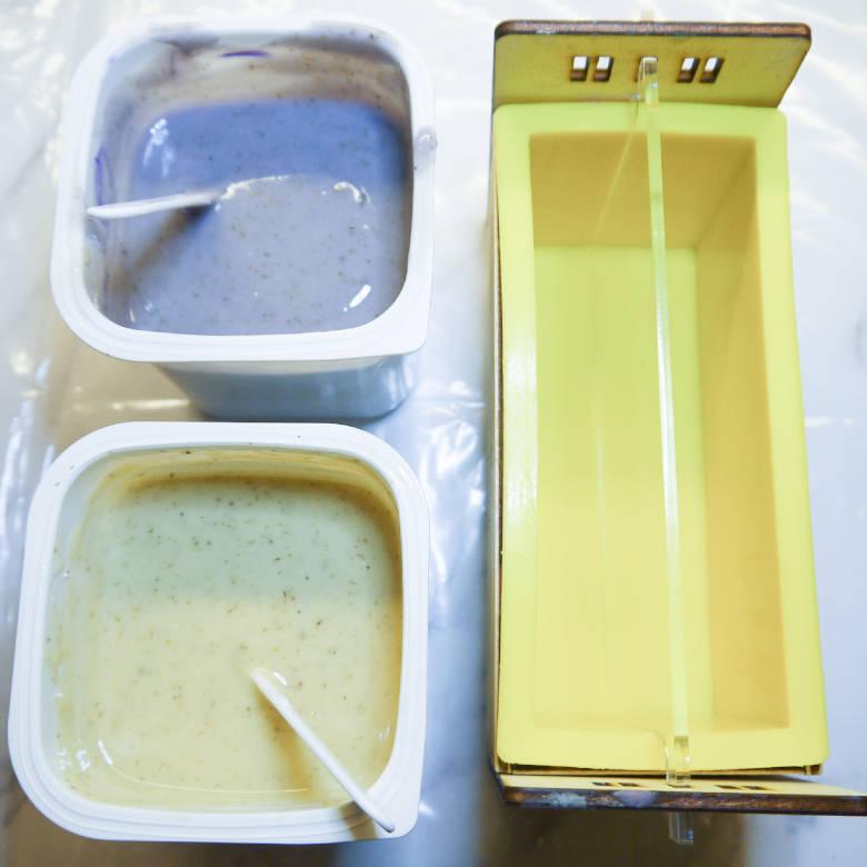Lavendel Seife selber machen mit Kokosmilch